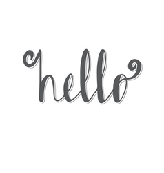 Hello Hand lettering Calligraphy vector image