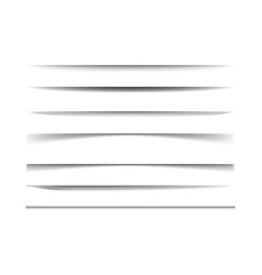 horizontal lines black shadows realistic vector image