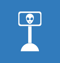 Icon alien on the monitor vector