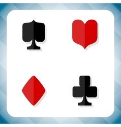 icons with card suits vector image