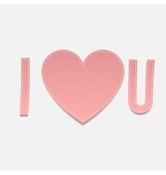 Inscription I love u on white Background vector image