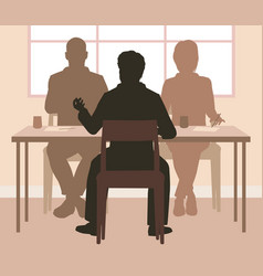 interview vector image