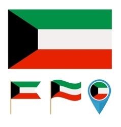 Kuwaitcountry flag vector image