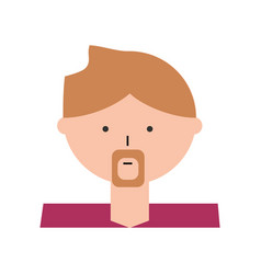 Man cartoon profile vector
