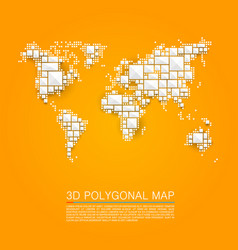 Map 3d polygon art cube vector