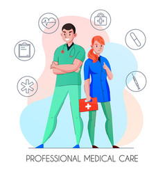 Medical care personnel composition vector