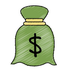 Money bag isolated icon vector
