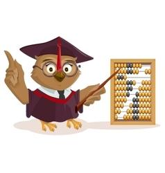 Owl teacher and abacus vector