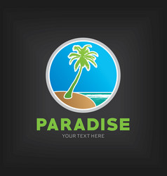 Paradise design template poster vector
