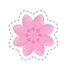 pink flower garden decoration color cut line vector image