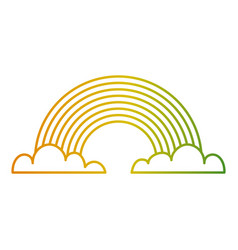 rainbow clouds fantasy sweet decoration vector image