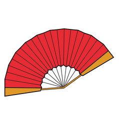 red fan on white background vector image
