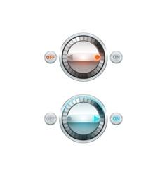 Round Button Set vector image