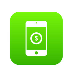 Smartphone with dollar sign on display icon vector