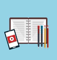 Study notebook design vector
