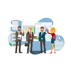 Successful business negotiation flat vector
