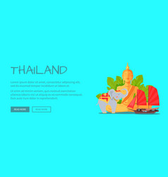 thailand conceptual flat style web banner vector image
