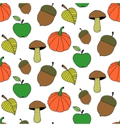 Trendy Cartoon Autumn Seamless Pattern vector image