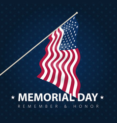 usa poster card to celebrate memorial day vector image