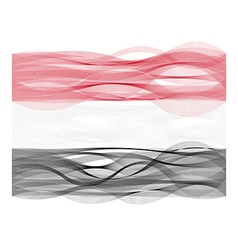 Wave line flag of Yemen vector