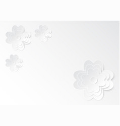 white paper cutting flower art on white paper vector image