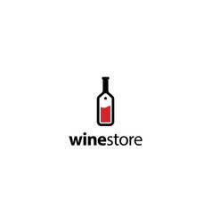 wine store logo design concept vector image