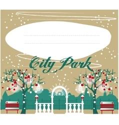 Winter Park background Landscape for your design vector image