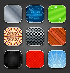 Backgrounds with texture for the app icons vector image