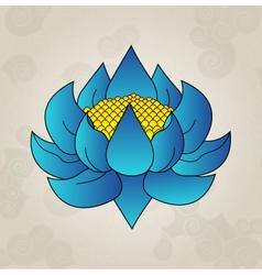 Blue lotus japanese tattoo vector image vector image