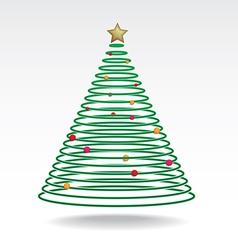 Christmas tree neon light vector image vector image