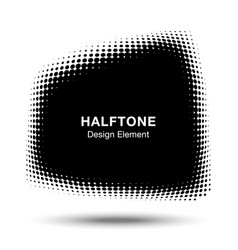 convex distorted abstract halftone trapezium frame vector image vector image