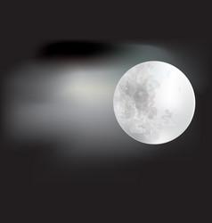 full moon on dark background vector image