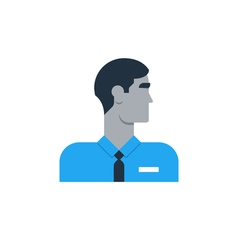 Man side view turned head security work sales vector image vector image