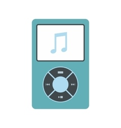 Media player flat icon vector image