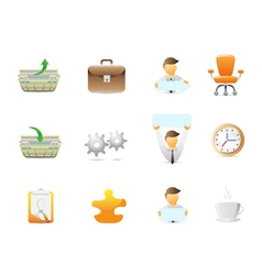Office stuffs icons vector image