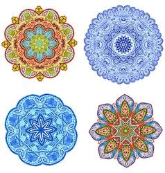 abstract circular pattern of arabesques watercolor vector image vector image