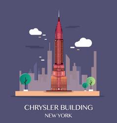 chrysler building new york vector image