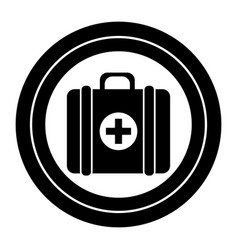 contour sticker first aid kit medications tools vector image