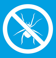 no spider sign icon white vector image vector image