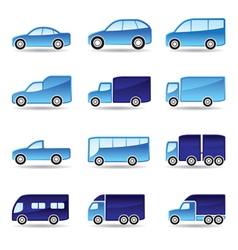 Road transport icon set vector image vector image