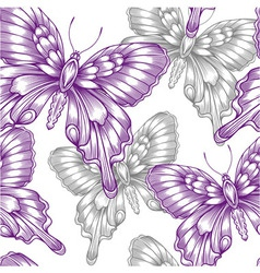 seamless pattern with decorative purple vector image vector image