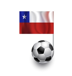 Soccer Balls or Footballs with flag of Chile vector image vector image