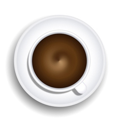 Coffee Cup Top-Down View vector image