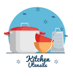 colorful kitchen utensils vector image