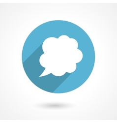 flat speech bubble icon vector image vector image