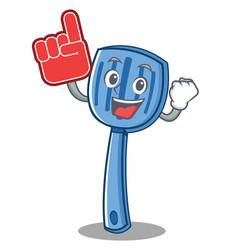foam finger spatula character cartoon style vector image