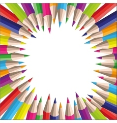 background of colored pencils for your vector image vector image