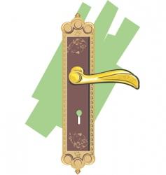 door handle vector image vector image