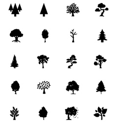 Forest Solid Icons 5 vector image vector image