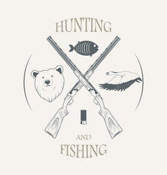 hunting and fishing vector image
